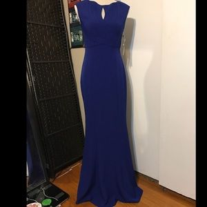 Stunny blue mermaid dress